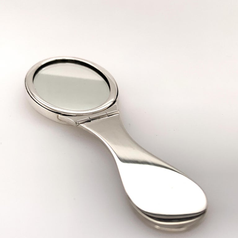 Tiffany & Co. Sterling Silve Purse Mirror In Excellent Condition For Sale In New York, NY