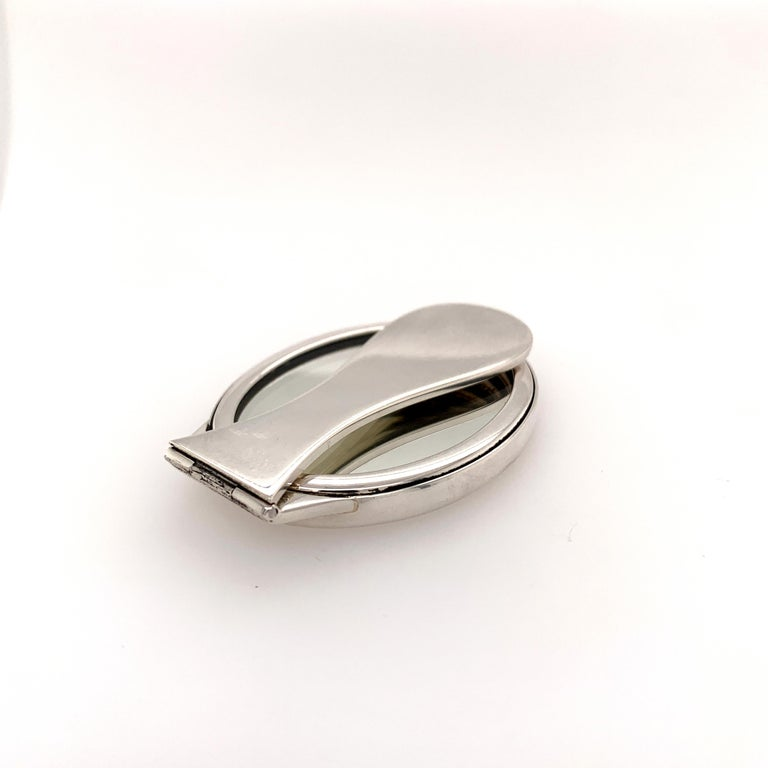 Tiffany & Co. Sterling Silve Purse Mirror For Sale 2