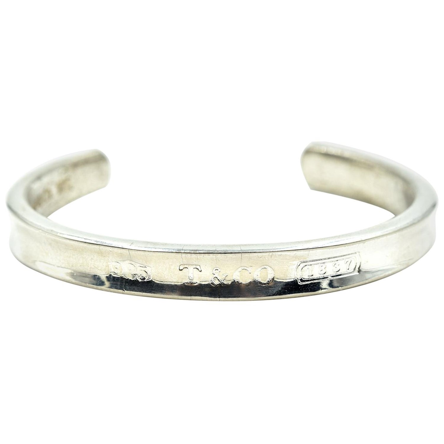 2528ba8f7 Tiffany and Co. Sterling Silver 1837 Cuff Bracelet at 1stdibs