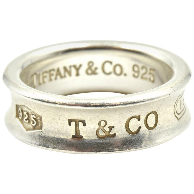 16a211057 Tiffany and Co. Sterling Silver 1837 Ring at 1stdibs
