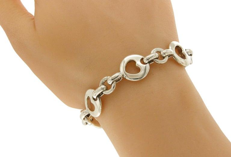 Women's or Men's Tiffany & Co. Sterling Silver 1999 Hearts Bracelet