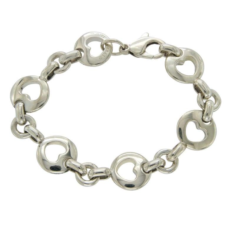 Tiffany & Co. Sterling Silver 1999 Hearts Bracelet