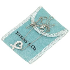 Tiffany & Co. Sterling Silver 925 Loving Heart Pendant Necklace