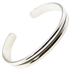 Tiffany & Co. Sterling Silver and 18 Karat Gold Cuff Bracelet