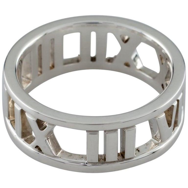 41cf3c6775e9c Tiffany & Co. Sterling Silver Atlas Cutout Band Ring