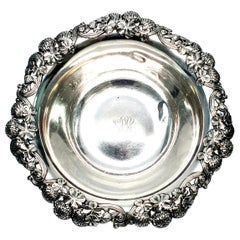 Tiffany & Co. Sterling Silver Bowl Clover Pattern with Monogram