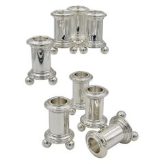 Tiffany & Co. Sterling Silver Candleholders Set of Eight