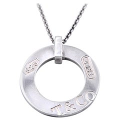 Tiffany & Co. Sterling Silver Circle Necklace