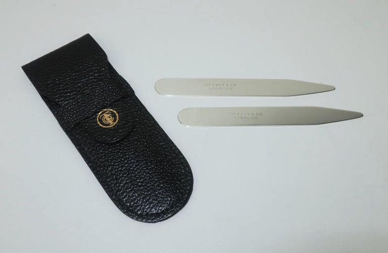Tiffany & Co. Sterling Silver Collar Stays With Case In Good Condition In Atlanta, GA