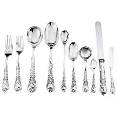 Tiffany & Co. Sterling Silver Cutlery Set of 10 in a Florentine Pattern