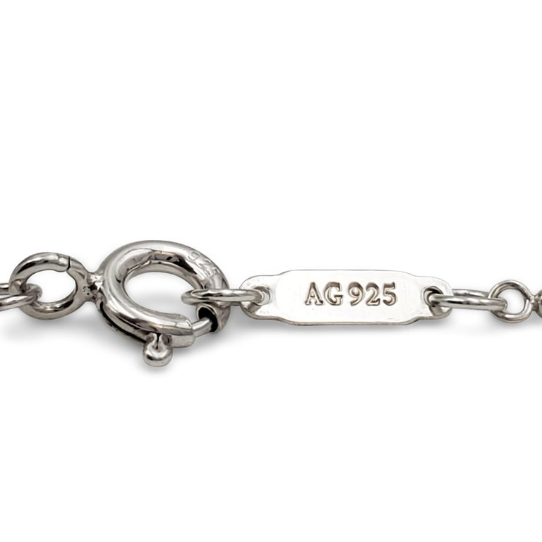 Tiffany & Co. Sterling Silver 'Daisy Key' Pendant on Beaded Chain For Sale 3
