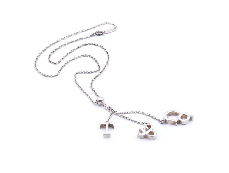 Designer: Tiffany & Co. Material: sterling silver Dimensions: necklace measures 17-inches in length Weight: 5.9 grams