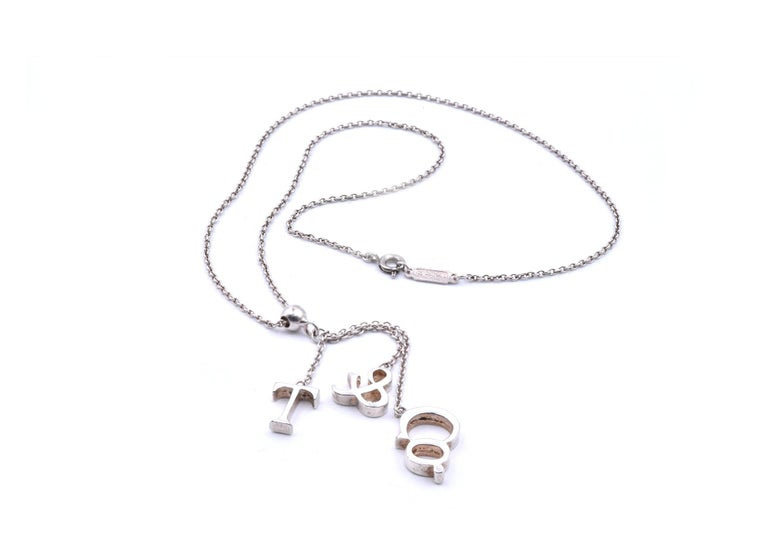 Tiffany & Co. Sterling Silver Dangle Necklace In Excellent Condition In Scottsdale, AZ