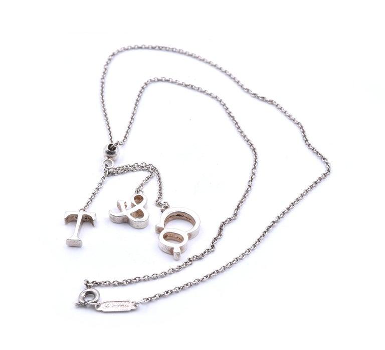 Women's or Men's Tiffany & Co. Sterling Silver Dangle Necklace