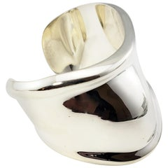 "Tiffany & Co. Sterling Silver Elsa Peretti ""Bone"" Cuff Bracelet"