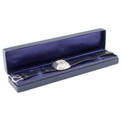 "Tiffany & Co. Sterling Silver Elsa Peretti ""The Diamond Watch"" w/ Box and Paper"