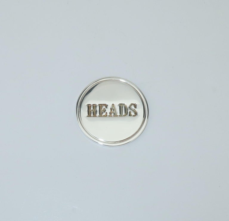 Modernist Tiffany & Co. Sterling Silver Heads Or Tails Coin For Sale