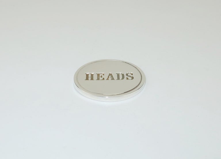 Tiffany & Co. Sterling Silver Heads Or Tails Coin In Good Condition For Sale In Atlanta, GA