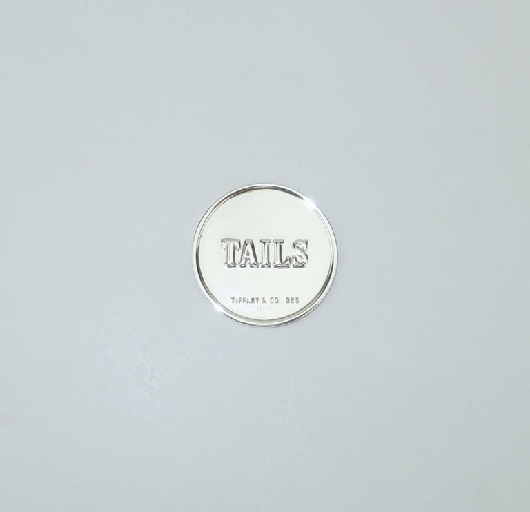 Women's or Men's Tiffany & Co. Sterling Silver Heads Or Tails Coin For Sale