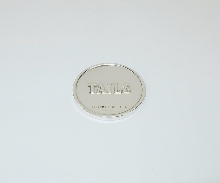 Tiffany & Co. Sterling Silver Heads Or Tails Coin For Sale 1