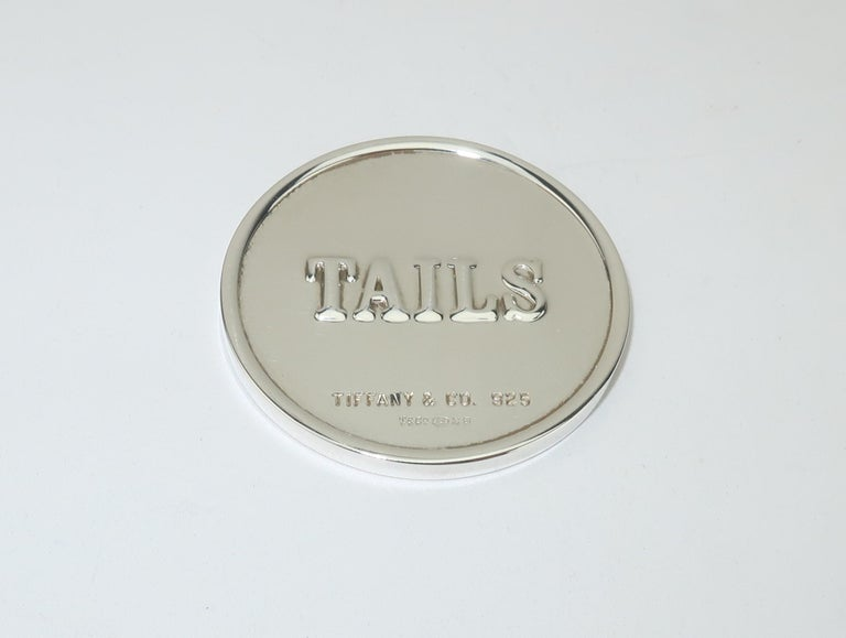 Tiffany & Co. Sterling Silver Heads Or Tails Coin For Sale 2