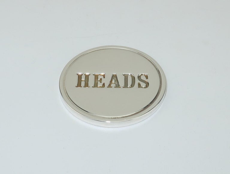 Tiffany & Co. Sterling Silver Heads Or Tails Coin For Sale 3
