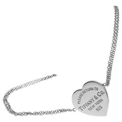 Tiffany & Co. Sterling Silver Heart Tag Bracelet Medium