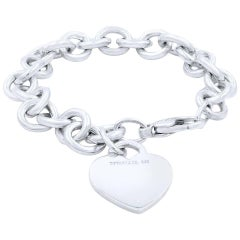 Tiffany & Co. Sterling Silver Heart Tag Toggle Charm Bracelet Tiffany & Co. Box