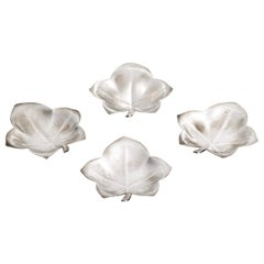 Tiffany & Co Sterling Silver Leaf Dishes