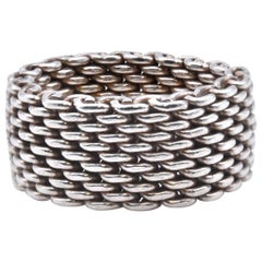 Tiffany & Co. Sterling Silver Mesh Band