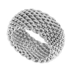 Tiffany & Co. Sterling Silver Mesh Somerset Ring