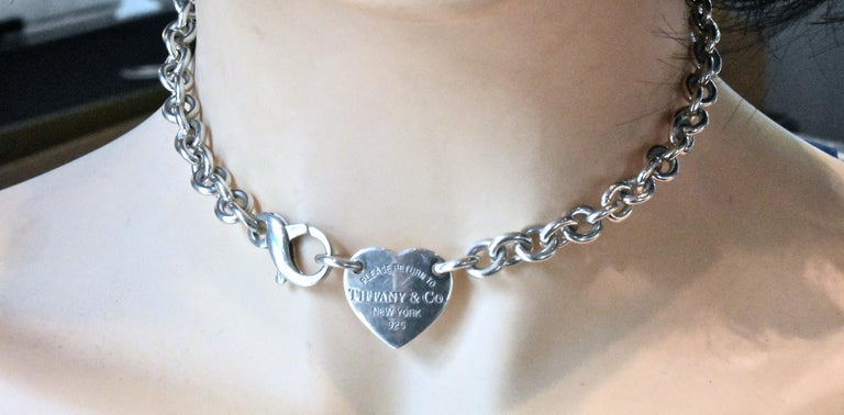 Women's or Men's Tiffany & Co. Sterling Silver Necklace For Sale