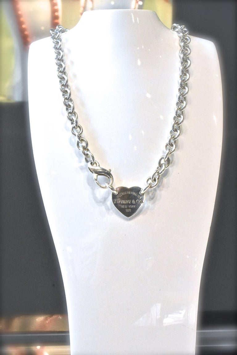 Tiffany & Co. Sterling Silver Necklace For Sale 2