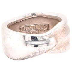 Tiffany & Co. Sterling Silver Overlap Band