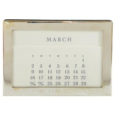 Tiffany & Co. Sterling Silver Perpetual Desk Calendar