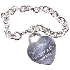 Tiffany & Co. Sterling Silver Please Return to Tiffany Heart Bracelet