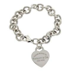 Tiffany & Co. Sterling Silver Return to Tiffany Heart Charm Bracelet