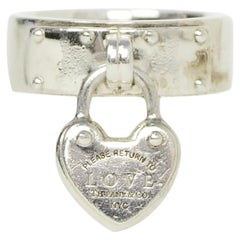 Tiffany & Co Sterling Silver Return to Tiffany Love Lock Ring sz 5.25