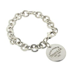 Tiffany & Co. Sterling Silver Return to Tiffany Round Charm Bracelet