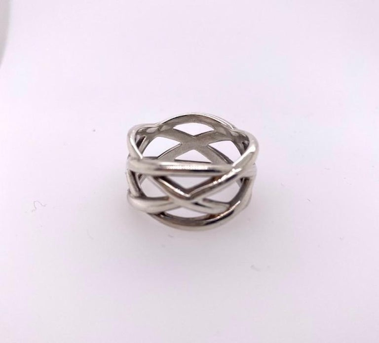 Women's or Men's Tiffany & Co. Sterling Silver Ring For Sale