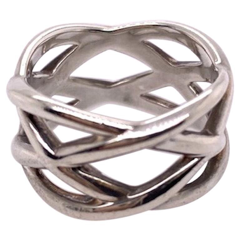 Tiffany & Co. Sterling Silver Ring For Sale