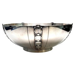 Tiffany & Co. Sterling Silver Salad Bowl Tomato or Pumpkin Vine Pattern
