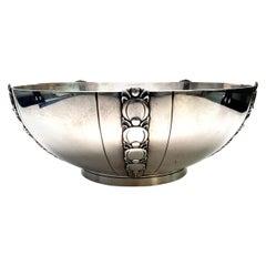 Tiffany & Co. Sterling Silver Salad Bowl Tomato or Pumpkin Vine Pattern