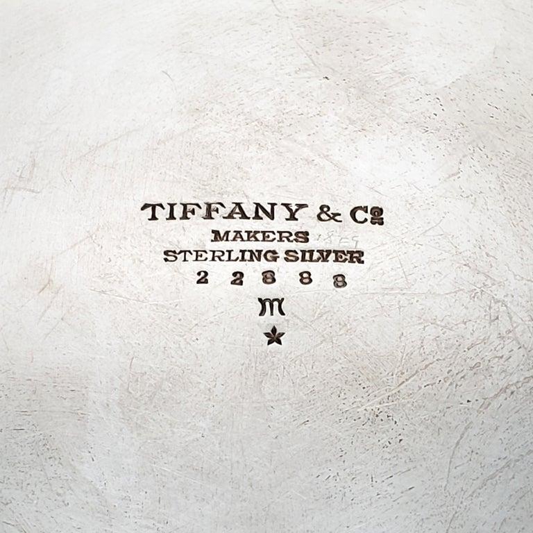 Tiffany & Co. Sterling Silver Salad Bowl Tomato or Pumpkin Vine Pattern For Sale 2