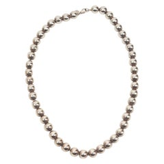 Tiffany & Co. Sterling Silver Short Ball Necklace