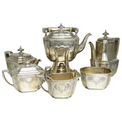 Tiffany & Co. Sterling Silver Six Pieces Coffee and Tea Set