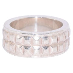 Tiffany & Co. Sterling Silver Studded Band Ring