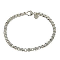Tiffany & Co. Sterling Silver Venetian Box Chain Link Bracelet