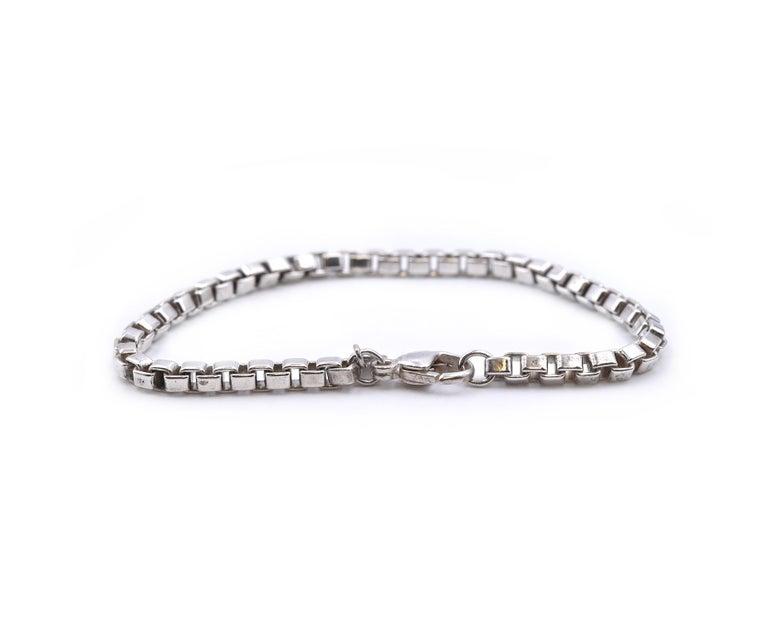 Tiffany & Co. Sterling Silver Venetian Link Bracelet In Excellent Condition For Sale In Scottsdale, AZ