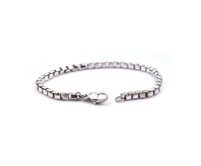 Women's or Men's Tiffany & Co. Sterling Silver Venetian Link Bracelet For Sale